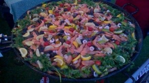 Seafood Paella Pan Catering